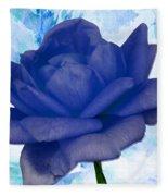The Blue Rose Fleece Blanket