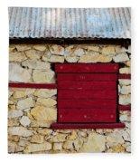 The Boarded Red Window Fleece Blanket