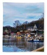 The Boat House Row Fleece Blanket