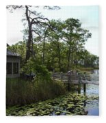 The Boathouse At Watercolor Fleece Blanket