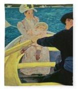 The Boating Party Fleece Blanket