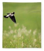 The Bobolink In Flight Fleece Blanket