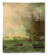 The Bombing Of Cadiz By The French  Fleece Blanket