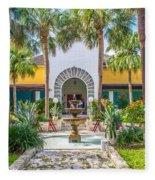 The Bonnet House - Interior Garden Fleece Blanket