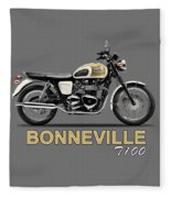 The Bonneville T100 Fleece Blanket