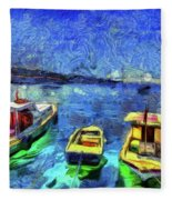 The Bosphorus Istanbul Art Fleece Blanket