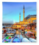 The Bosphorus Istanbul Fleece Blanket