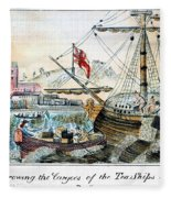 The Boston Tea Party, 1773 Fleece Blanket