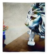 The Boy And The Lion 10 Fleece Blanket