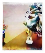 The Boy And The Lion 11 Fleece Blanket