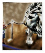 The Boy And The Lion 13 Fleece Blanket
