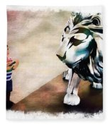 The Boy And The Lion 9 Fleece Blanket