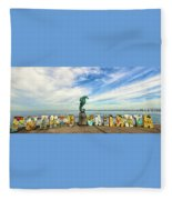 The Boy On The Seahorse Pano Fleece Blanket