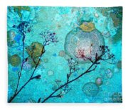 The Branches And The Moon Fleece Blanket