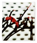 The Branches Naked By Wind And Rain. Fleece Blanket