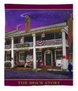The Brick Store Fleece Blanket