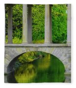 The Bridge Across The Pond Fleece Blanket