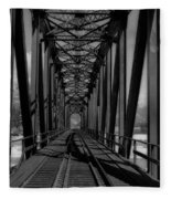 The Bridge At Mile 225 Fleece Blanket