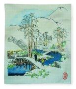 The Bridge At Mishima Fleece Blanket