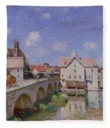 The Bridge At Moret Fleece Blanket