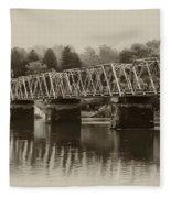 The Bridge At Washingtons Crossing Fleece Blanket