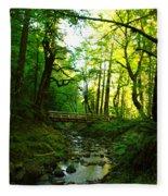The Bridge At Wyeth  Fleece Blanket