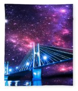 The Bridge Between Two Worlds Fleece Blanket