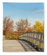 The Bridge To Autumn Fleece Blanket