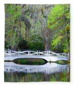 The Bridges In Magnolia Gardens Fleece Blanket