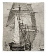 The Brig Hms Beagle From Journal Of Fleece Blanket