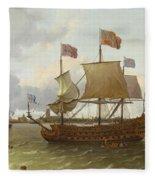 The Britannia In Rotterdam Fleece Blanket