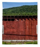The Broadside Of A Barn Fleece Blanket