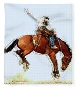 the Bronc Buster Fleece Blanket