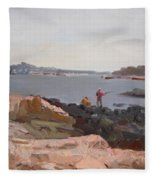 The Bronx Rocky Shore Fleece Blanket