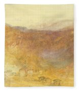 The Brunig Pass From Meiringen Fleece Blanket
