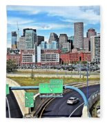 The Buildings Of Boston Fleece Blanket