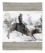 The Bull Rider Fleece Blanket