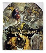 The Burial Of The Count Of Orgaz 1587 Fleece Blanket