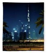 The Burj Khalifa  Fleece Blanket