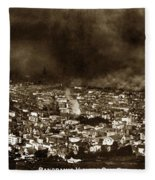 The Burning Of San Francisco Panoramic View Of San Francisco From Twin Peaks April 1906 Fleece Blanket