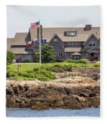 The Bush Compound Kennebunkport Maine Fleece Blanket