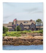 The Bush Family Compound On Walkers Point Fleece Blanket