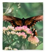 The Butterfly And The Bumblebee Fleece Blanket