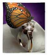 The Butterfly And The Engagement Ring Fleece Blanket