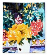 The Butterfly Bouquet Fleece Blanket