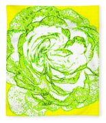 The Cabbage Rose Fleece Blanket