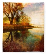 The Calm By The Creek Fleece Blanket