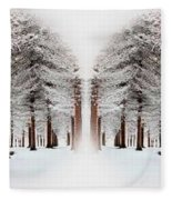 The Calm Of Winter In The Woods Fleece Blanket