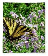 The Canadian Tiger Swallowtail Fleece Blanket