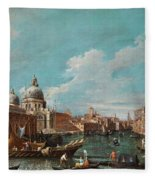 The Cannament Of The Great Canal Fleece Blanket
